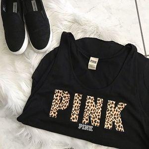 Tops - Black cheetah PINK tank